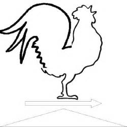 rooster template creating crowing and inevitably