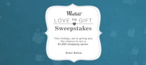 Westfield Mall Gift Card - westfield holiday sweepstakes win a 1 000 gift card good at any westfield mall