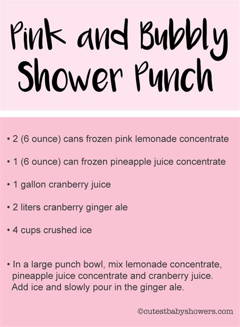 Pink Baby Shower Punch Recipe by The Best Baby Shower Punch Recipes Cutestbabyshowers