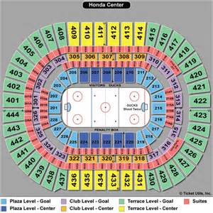 Honda Center Seat Map Anaheim Ducks Tickets