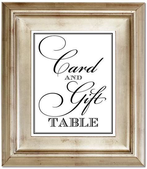 card and gift table 8x10 wedding sign customized