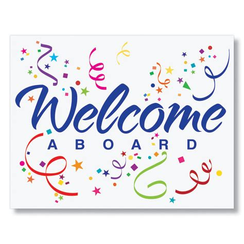 Welcome New Employee Sign Template Welcome Confetti Card