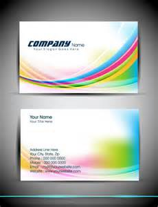 abstract business card template free vector in adobe