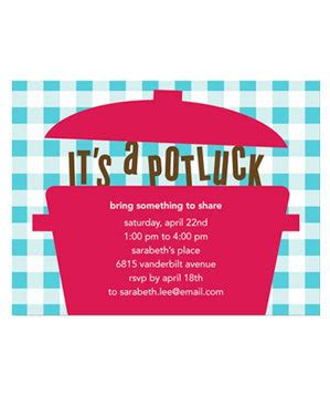 Great Invitation Websites Real Simple Potluck Invitation Template