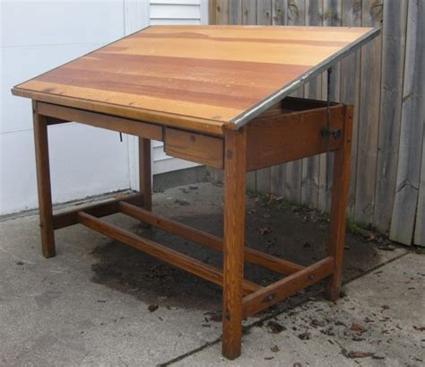 Solid Wood Drafting Table Beautiful Solid Wood Vintage Drafting Table Lovely Workmanship Great History Beautiful