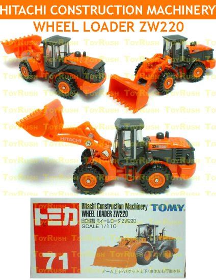 Takara Tomy Hitachi Construction Machinery Wheel Loader Zw220 Original tomy tomica diecast 71 hitachi construction machinery