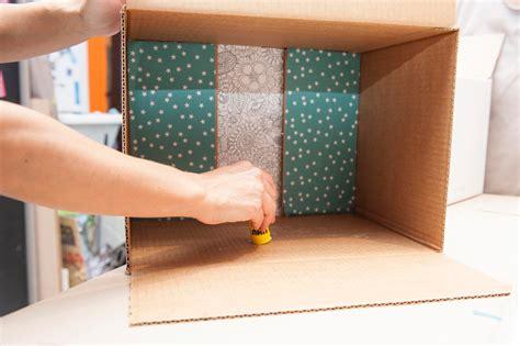 mini libreria riciclo da scatola a mini libreria cose di casa