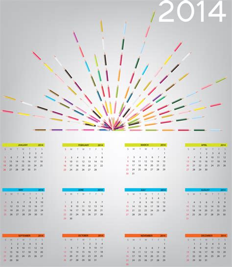 design new year calendar 2014 new year calendar design vector free vector in