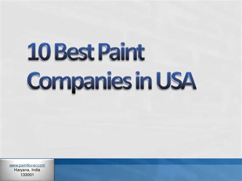 paint companies 10 best paint companies in usa