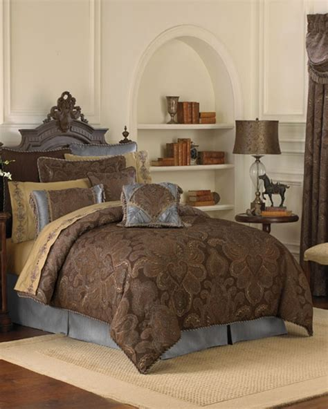 Croscill Townhouse Comforter by Chocolate Bedding Ensemble By Croscill Townhouse Linens