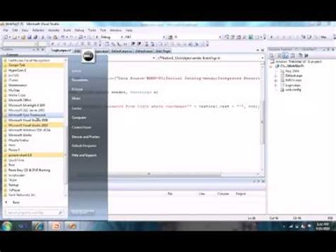 Login Page Code Using ASP.NET and C# .FLV - YouTube Login Asp
