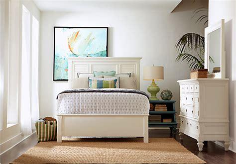 belmar white 5 pc king bedroom panel traditional