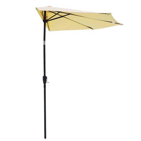 Half Umbrella For Patio 10ft Outdoor Patio Half Umbrella Wall Balcony Bistro Door Sun Shade Aluminum Opt Ebay