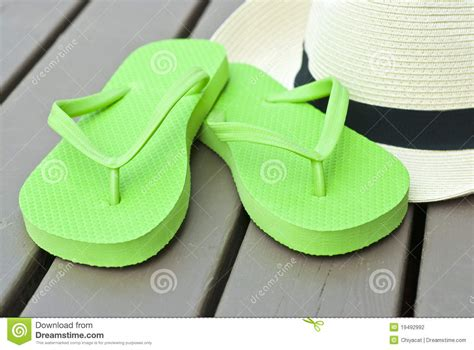 lime green flip flops stock photo image  lime green