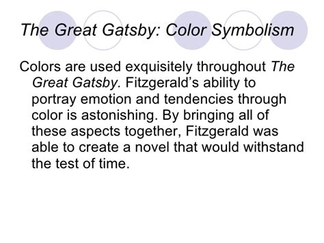 symbolism in the great gatsby shirts smith powerpoint