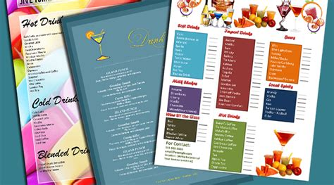 cocktail menu template word free 5 plus attractive drink menu templates for your bar business