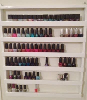 wall nails 31 diy racks for nail polish display guide patterns