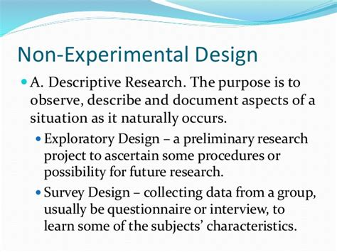 questionnaire experimental design research methodology