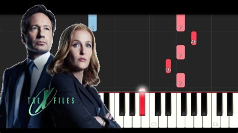 piano tutorial x files theme the x files theme song piano tutorial youtube