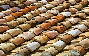 Terracotta Roof Tiles Aged Terracotta Roof Tiles Photograph By David Letts