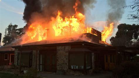 devastating fire destroys home  tarras  blacks