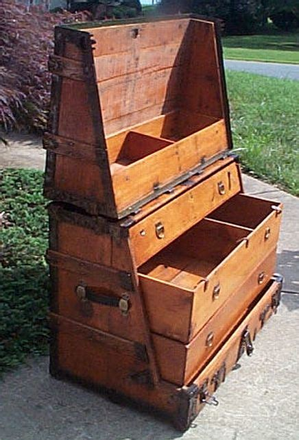 steamer trunk dresser plans antique steamer trunk 320 1870s 1890s very rare and