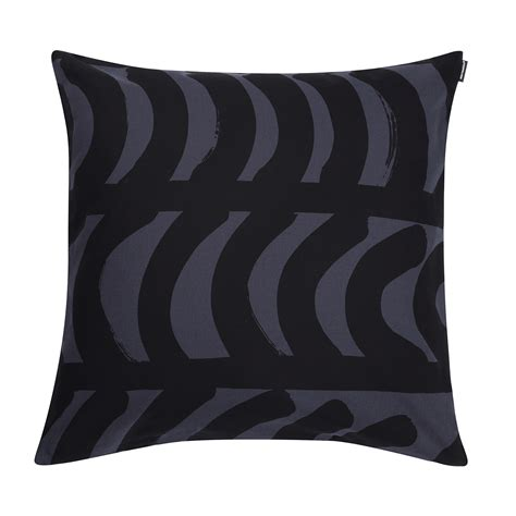 Black Throw Pillow by Marimekko Rautasnky Black Throw Pillow Marimekko Throw