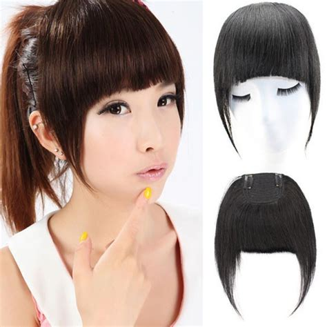 china human hair extension hair clip in 100 remy human hair handwoven neat bangs