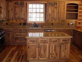 Wooden Furniture For Kitchen Rustic Hickory Kitchen Cabinets Solid Wood Kitchen Furniture Ideas