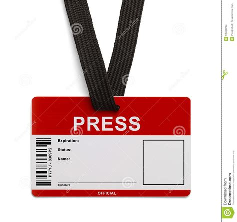 press id card template press id card stock images image 31402234