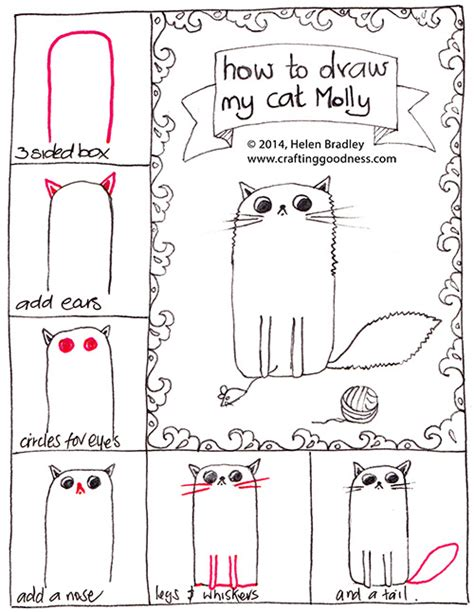 how to do today s doodle how to draw a fluffy cat step by step crafting goodness