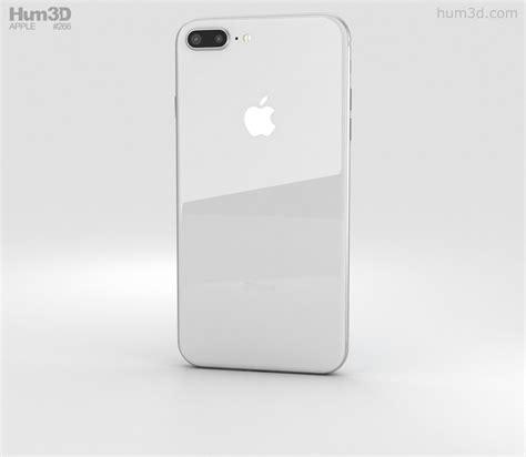 apple iphone 8 plus silver 3d model electronics on hum3d