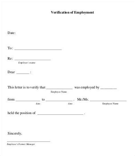 employment verification form template operprint
