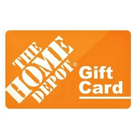 50 home depot gift card my rewards program atb my rewards