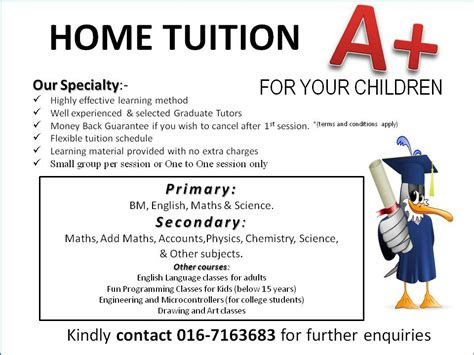 home tuition board design home tuition for your children home tuition