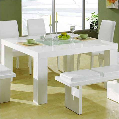 lony square dining table in white dg020dt wh