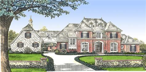 french manor house plans classic french country manor home 48267fm