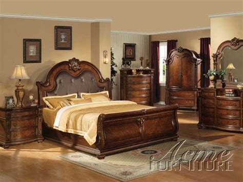 acme 5 pc hennessy collection cherry brown finish wood anondale 5pc cherry eastern king bedroom set 10307ek s by