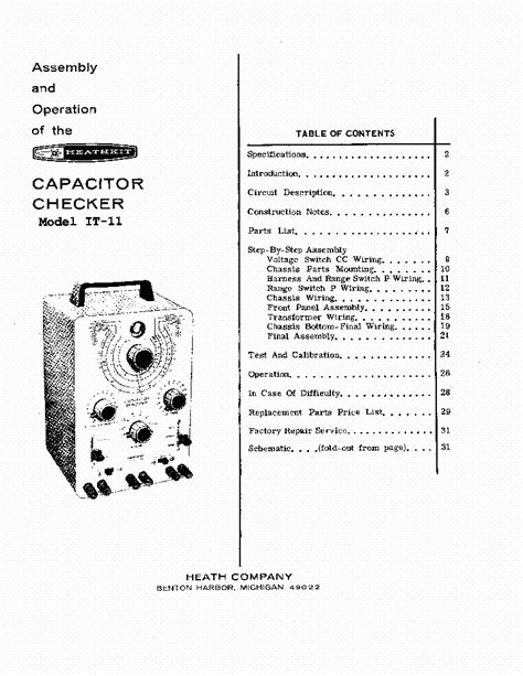 heathkit it 28 capacitor checker manual heathkit capacitor checker it 11 manual 28 images the heathkit it 11 capacitor checker