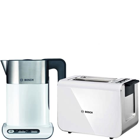 Bosch Kettle And Toaster White bosch styline collection kettle and toaster bundle white iwoot