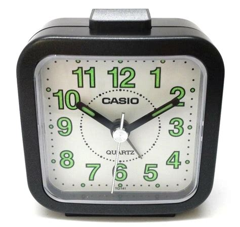 casio tq141 1 black travel up timer analog travel small alarm clock tq 141 ebay