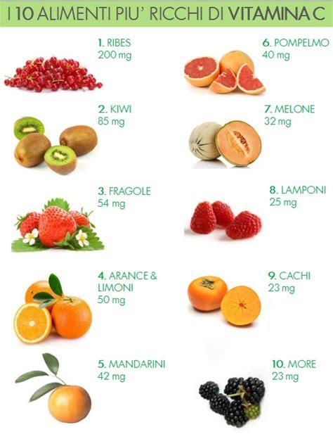 quali alimenti contengono vitamina b alimenti ricchi di vitamina c