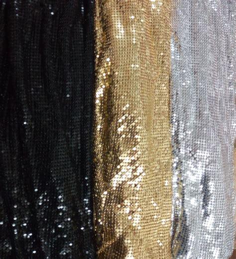 metal mesh curtain fabric aliexpress com buy free shipping 150cm x 45cm golden