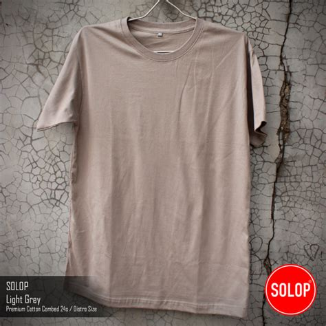 Kaos Katun Light by Kaos Polos Solop Warna Baru Light Grey Kaos Polos Solop