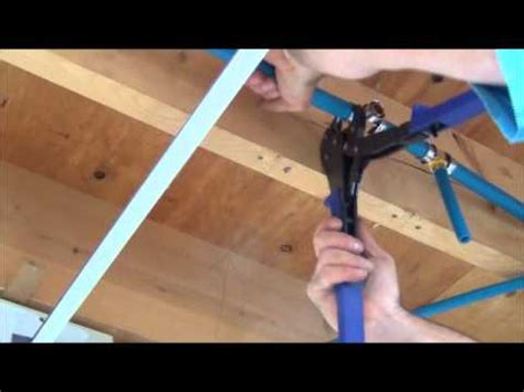 How To Install Pex Plumbing by How To Install Pex Pipe Waterlines In Your Home Part 2