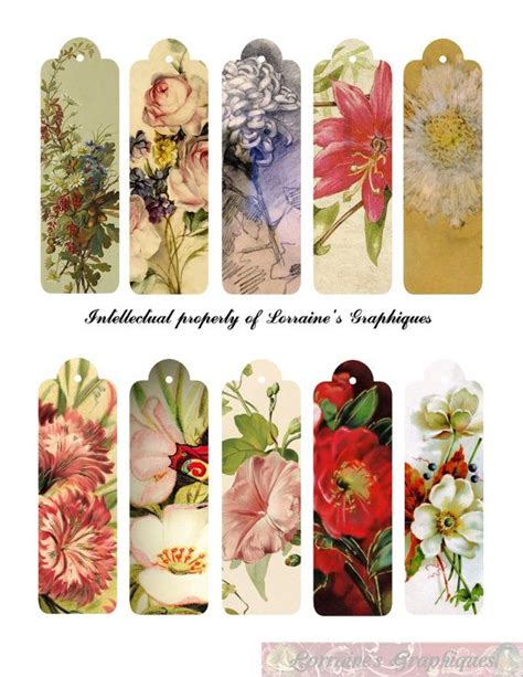free printable bookmarks flowers 17 best images about printable labels tags on pinterest