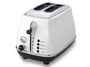 Retro Red Toaster Icona White 2 Slice Toaster Kitchen Delonghi New Zealand