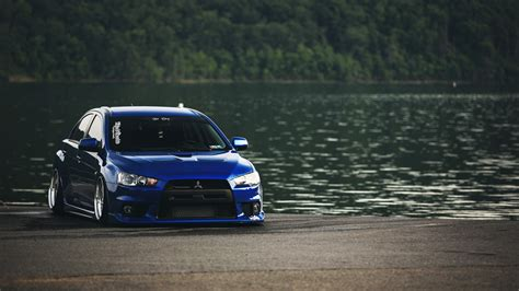 Mitsubishi Lancer Evo Vii Durable Premium Wp Car Cover Army blue mitsubishi mitsubishi lancer evo x jdm stance car wallpapers hd desktop and mobile
