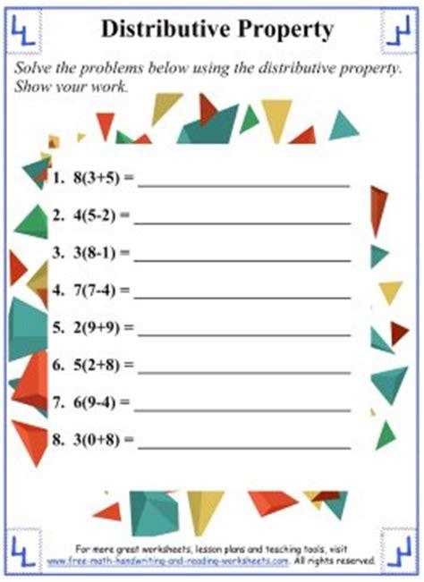 printable math worksheets distributive property distributive property math worksheets