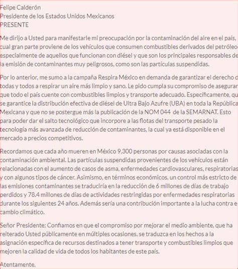 carta formal de la inseguridad carta formal para el presidente ejemplos como hacer municipal
